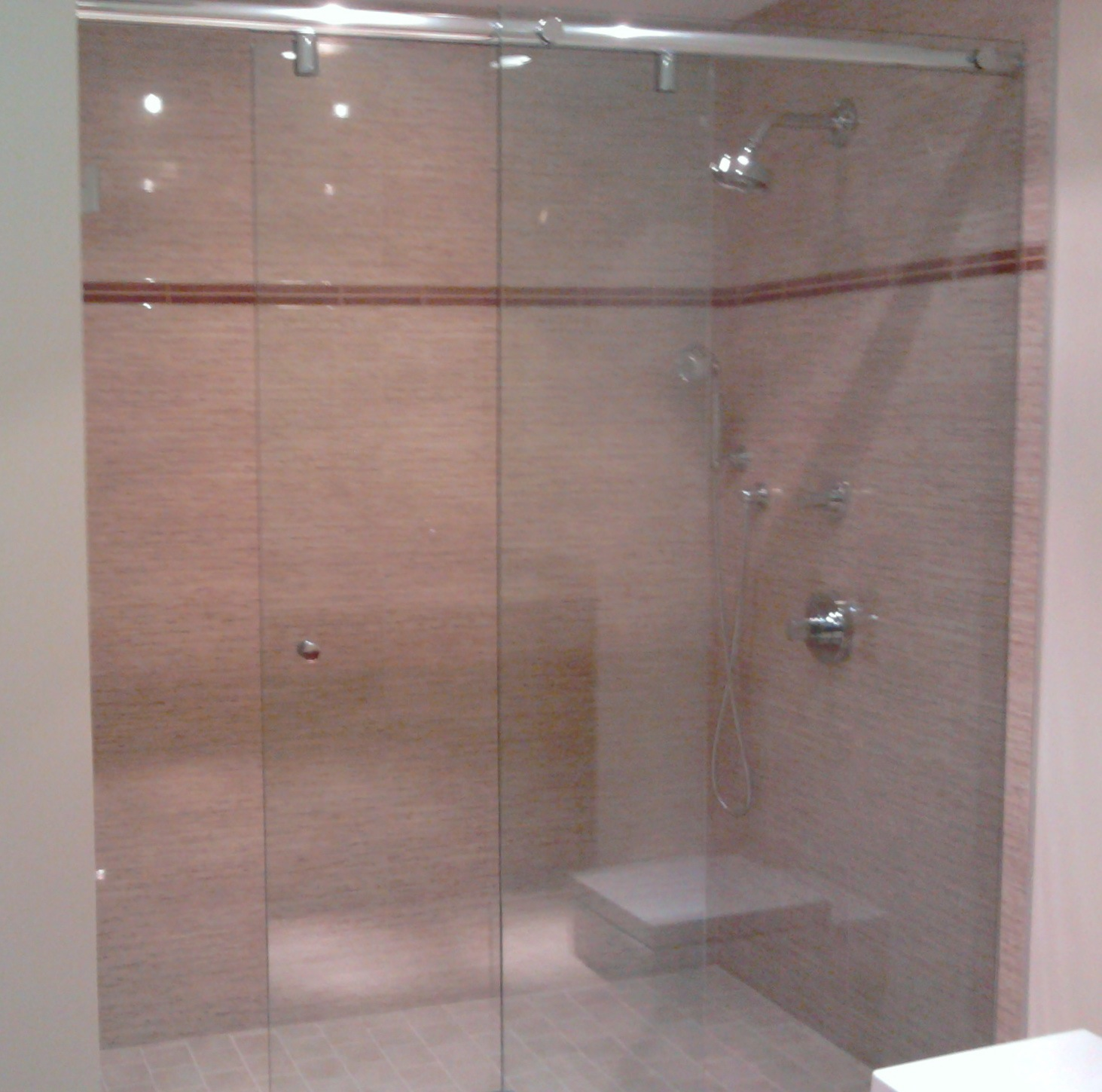 Hydroslide Sliding Shower Door That We Installed For A Customer Last