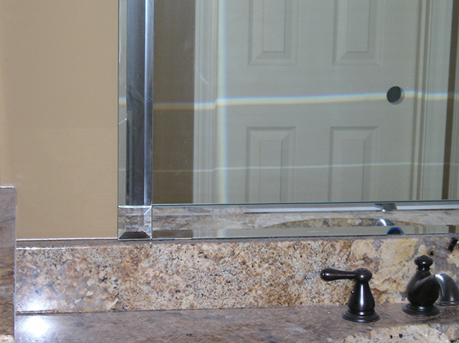 Beveled Mirrored Strips Look Great In Dallas Homes
