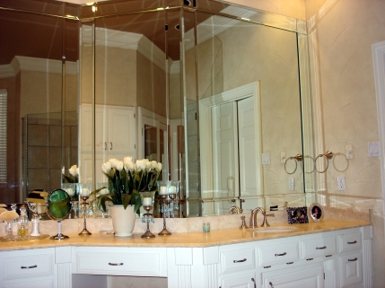 Beveled Mirrored Strips look great in Dallas homes! | Blog | Alamo ...