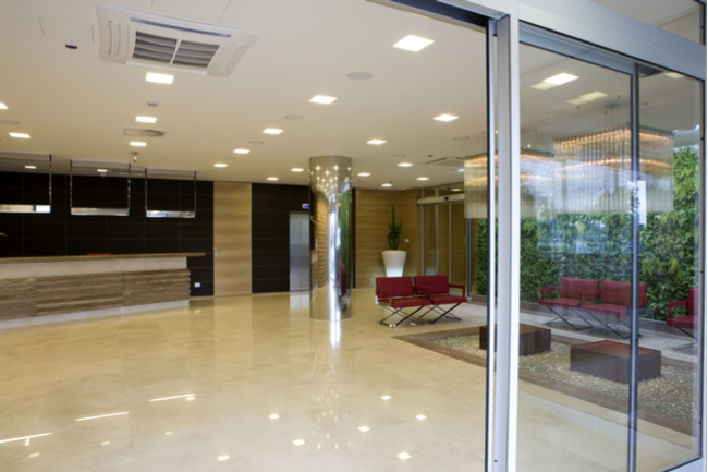 Glass Lobby Entrance