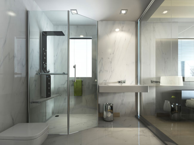 Designing a new glass shower door? Make sure it matches your style and space.