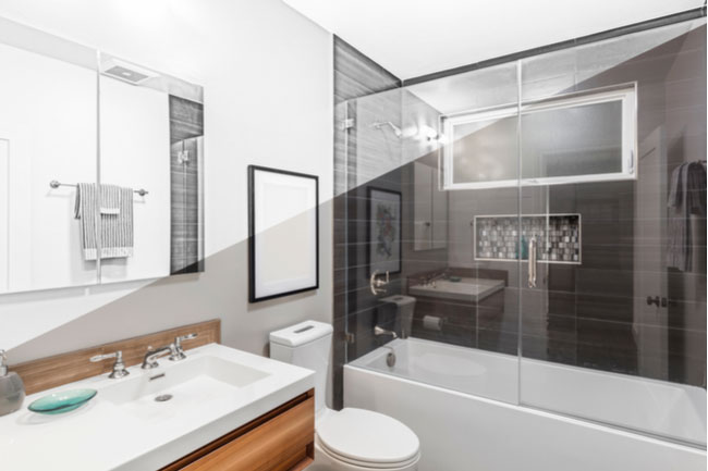 You have several glass shower door options to choose from: frameless shower doors, framed shower doors, etc.