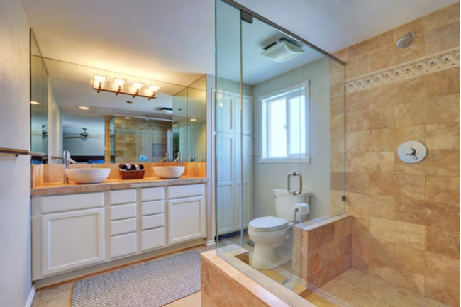Glass shower doors instantly upgrade your bathroom.