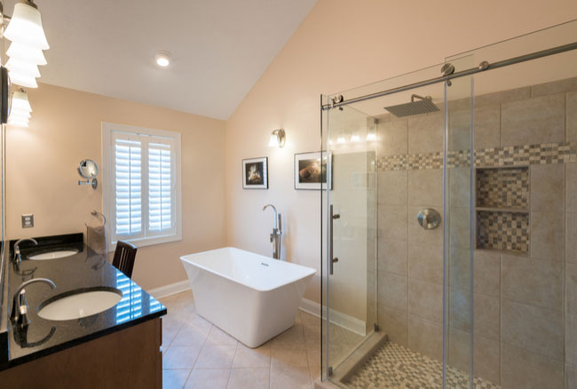 Your glass shower door options are endless: frameless shower doors, sliding shower doors, and more.