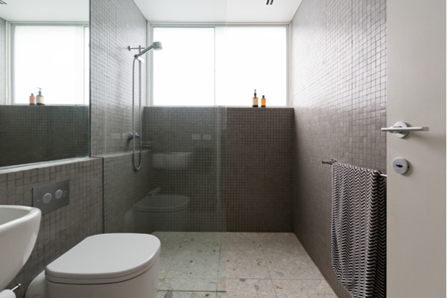 Curbless shower enclosures are safer for seniors or those with mobility issues.